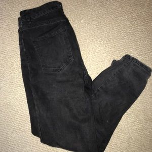 ASOS black high waisted jeans, Size 28